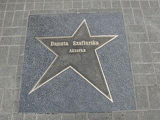 Gwiazda Danuty Szaflarskiej w Łódzkiej Alei Gwiazd